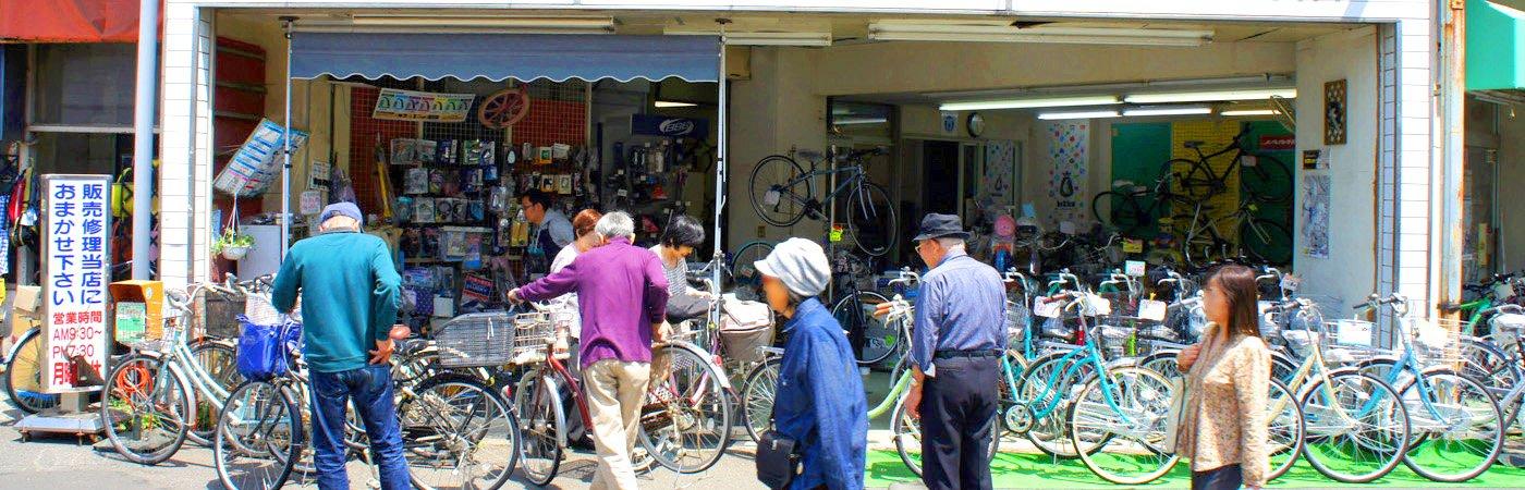 鶴瀬駅東口前と三芳町藤久保の自転車専門店ノムラサイクル